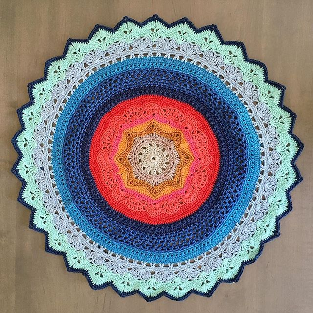 mobiusgirl crochet mandala of rings of change