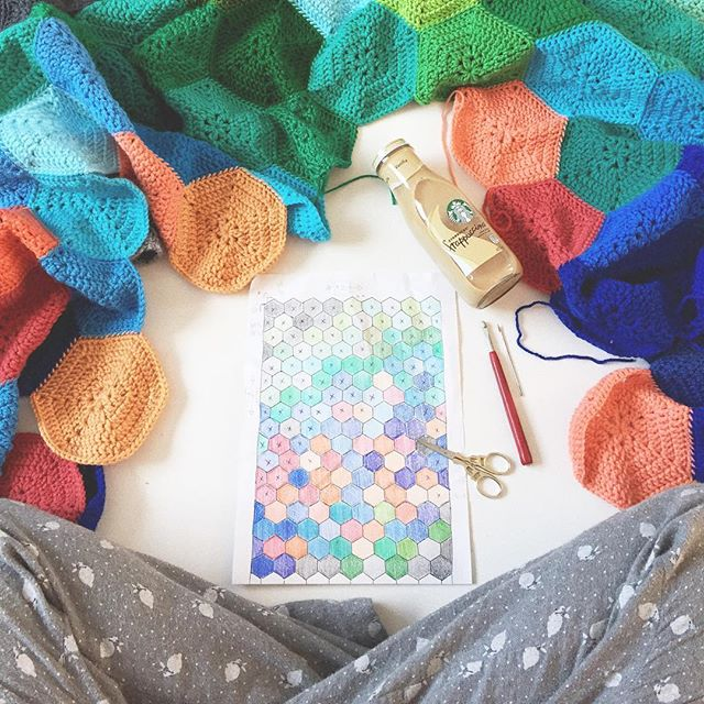 olivesandpickles crochet blanket planning