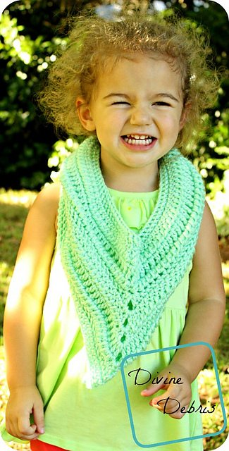 one skein crochet kids scarf