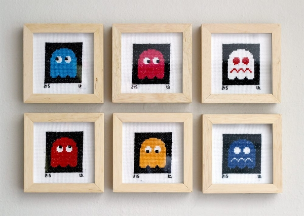 pacman embroidery