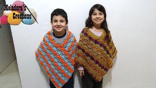 poncho crochet free pattern
