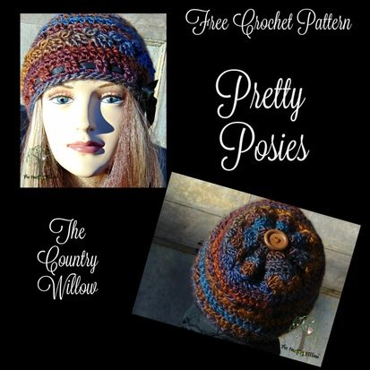 posies crochet hat pattern