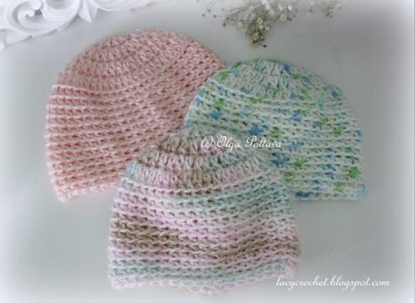 premie baby hats free crochet pattern