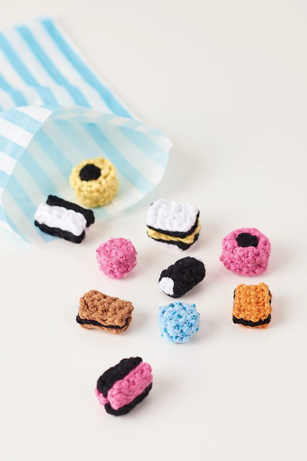 Retro crochet candy free pattern from Mollie Makes