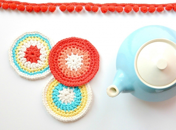 retro crochet coasters free pattern