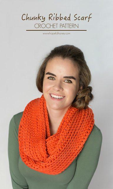 ribbed crochet scarf pattern