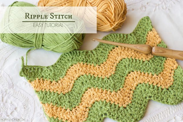 ripple stitch free crochet tutorial