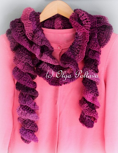 Frilly Knit Scarf Crochet Pattern : 50 Crochet Patterns for Scarves and Cowls