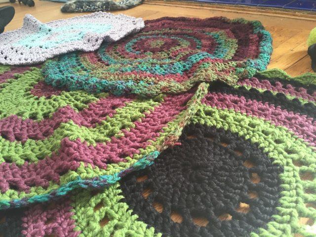 shelley crochet rug mandalas