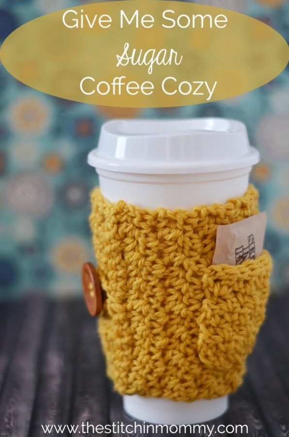 single skein crochet coffee cozy