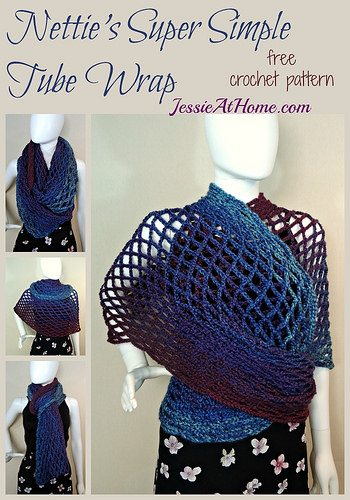 super simple tube wrap free crochet pattern