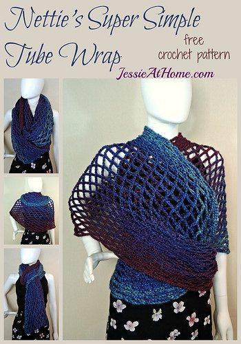 super simple tube wrap free crochet pattern