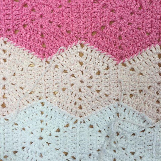 thepolkadotgiraffe ombre pink crochet