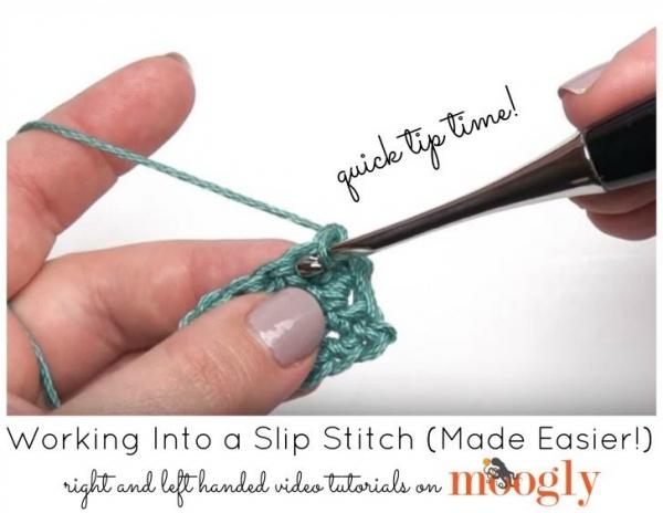 punta per lavorare in slip stitch