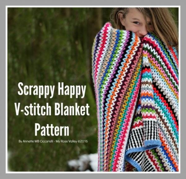 vstitch scraps crochet blanket pattern