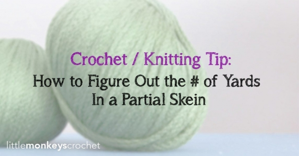yarn yardage tip