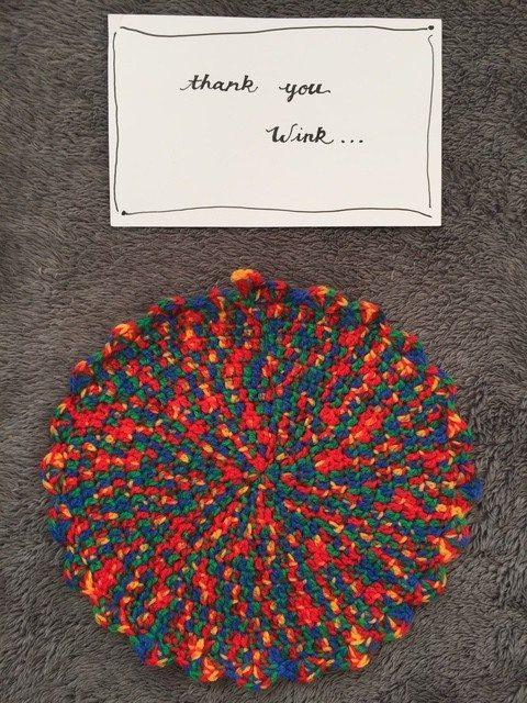 Anonymous Variegated Crochet Mandala