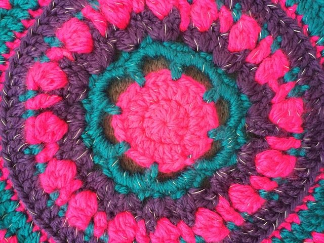 Becky's Crochet Mandala center