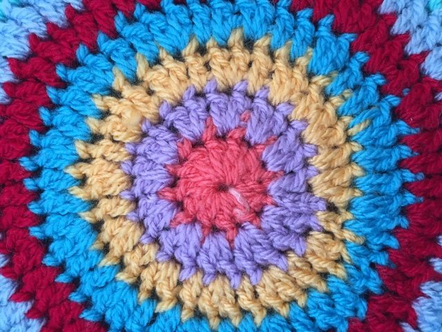 Leigh's Crochet Mandala center detail