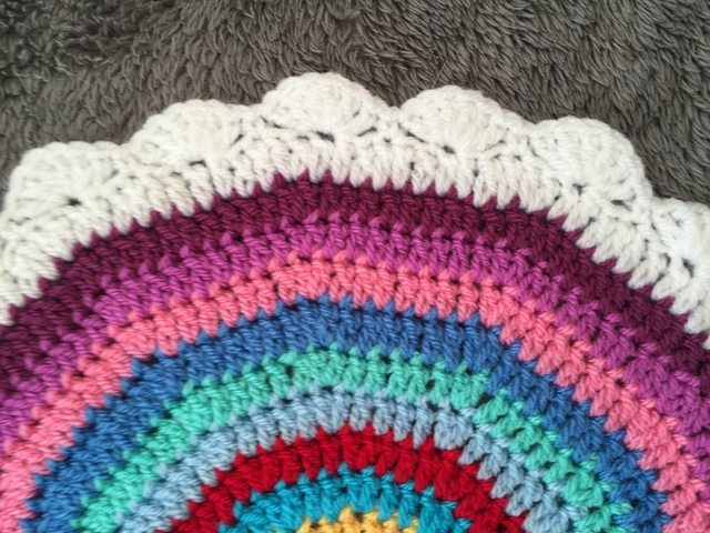 Leigh's Crochet Mandala edging