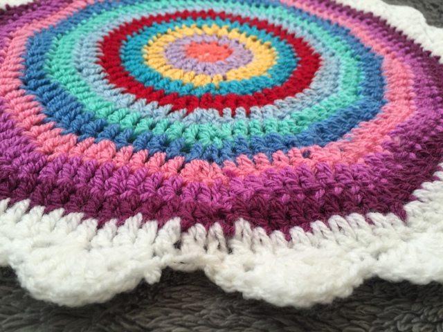 Leigh's Crochet Mandala flat angle
