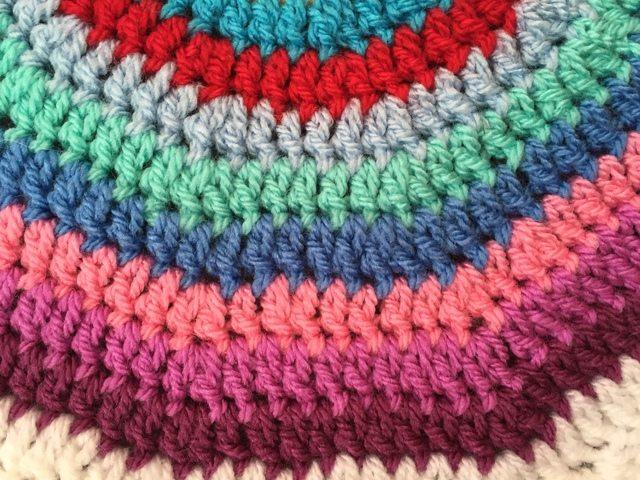 Leigh's Crochet Mandala row detail