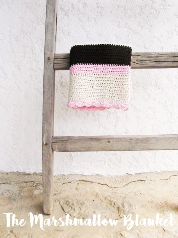 Marshmallow blanket free crochet pattern by Little Things Blogged