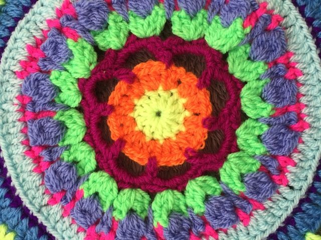 Steph's Crochet Mandalas Green Center