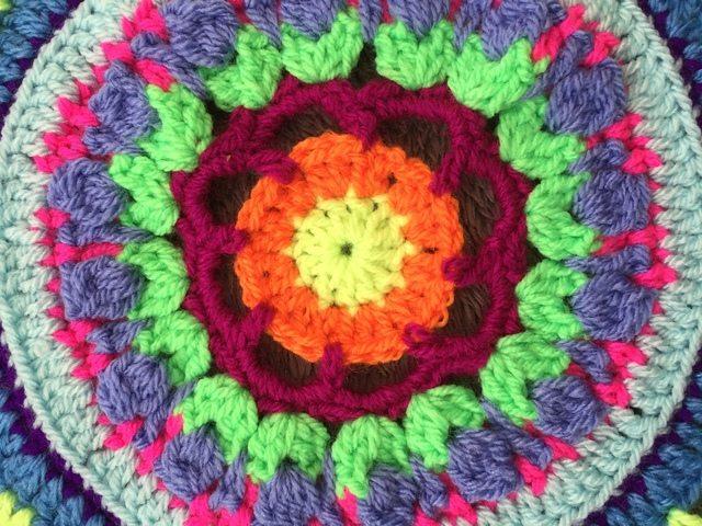 Steph's Crochet Mandalas Green Center