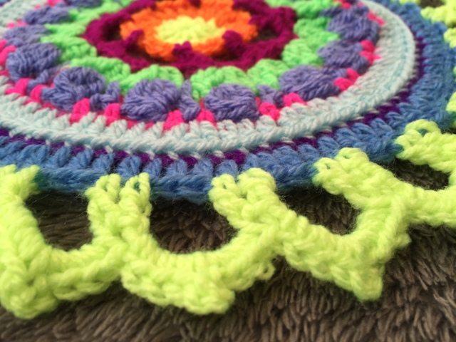 Steph's Crochet Mandalas Green Edging