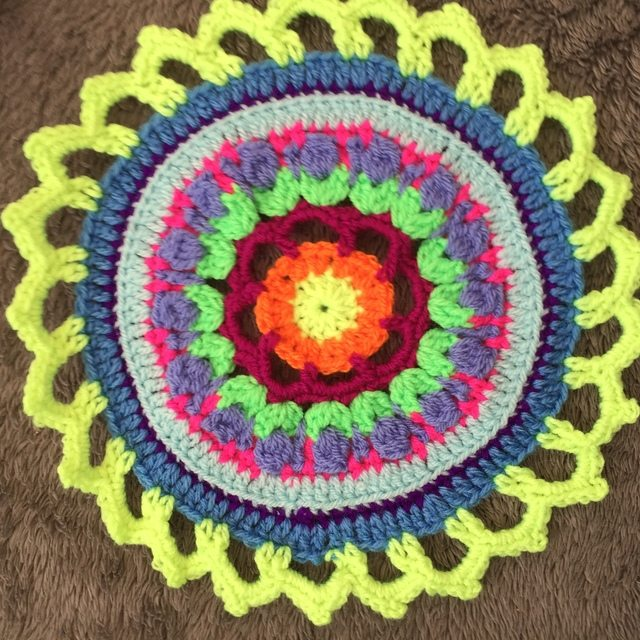 Steph's Crochet Mandalas Green