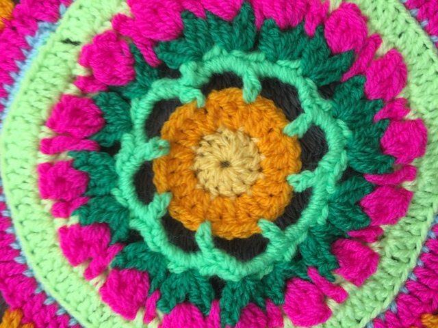 Steph's Crochet Mandalas Orange Center