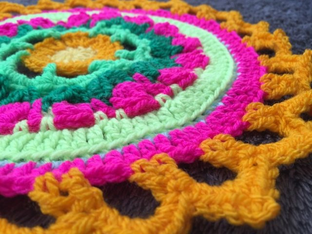 Steph's Crochet Mandalas Orange Edging