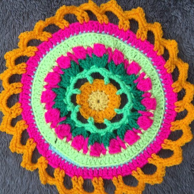 Steph's Crochet Mandalas Orange