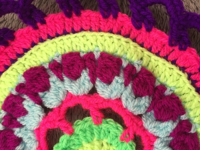 Steph's Crochet Mandalas Purple Edging