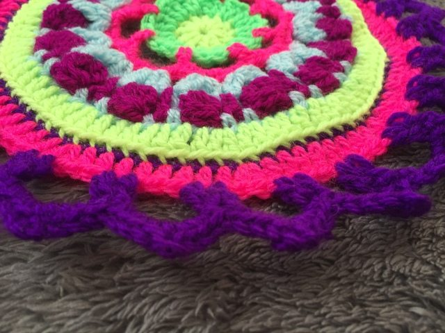 Steph's Crochet Mandalas Purple Flat