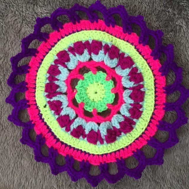 Steph's Crochet Mandalas Purple