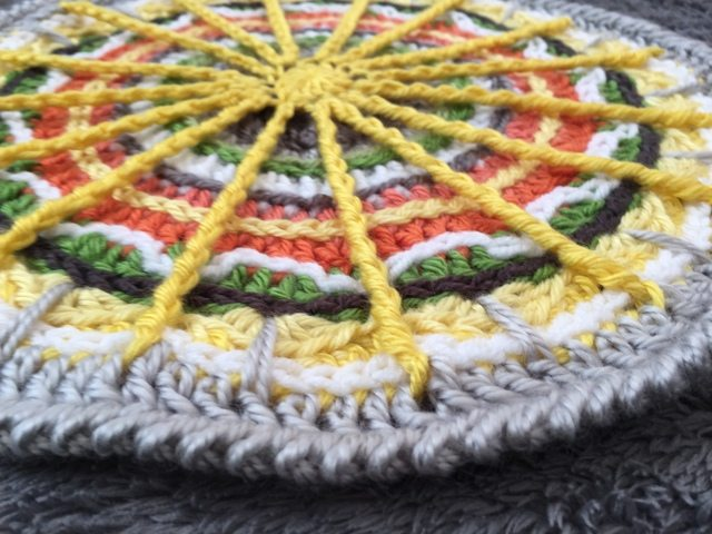 The Knottingham's Crochet Mandala edge