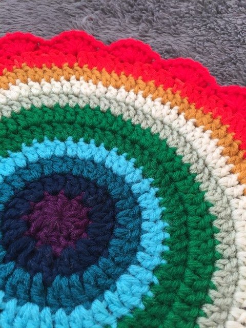 anonymous crochet mandala