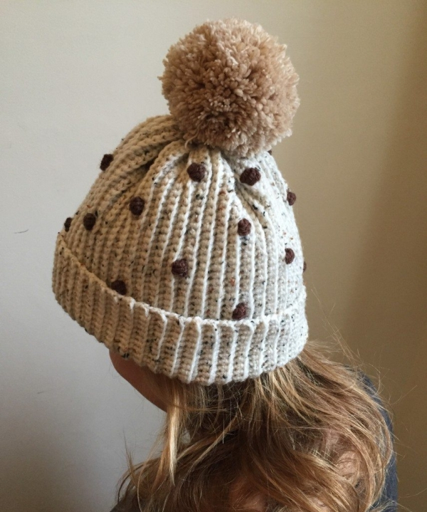 bobble crochet hat with pom free pattern