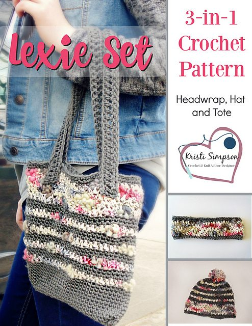 crochet accessories set pattern