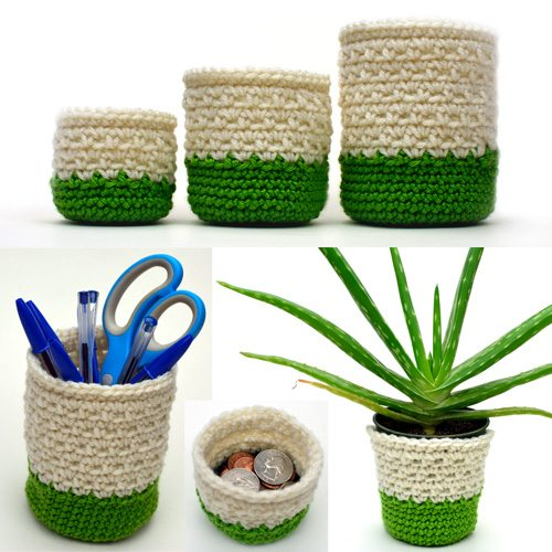 crochet containers pattern for sale