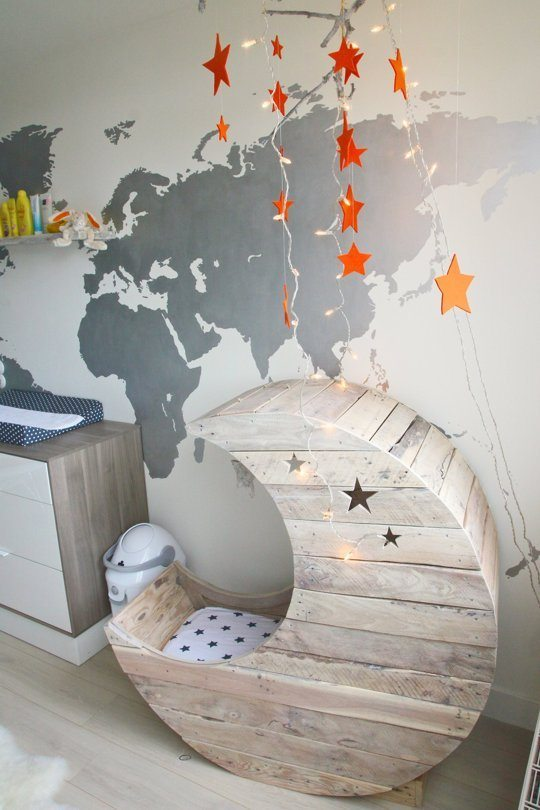 diy moon cradle project