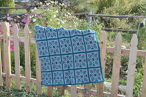 fair isle tunisian crochet afghan