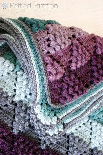 felted button crochet blanket pattern