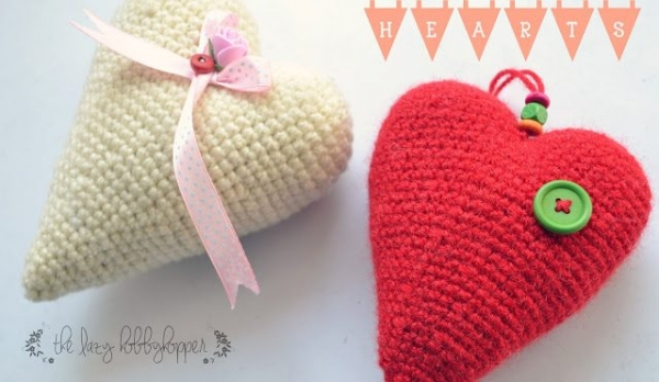 free crochet stuffed heart pattern