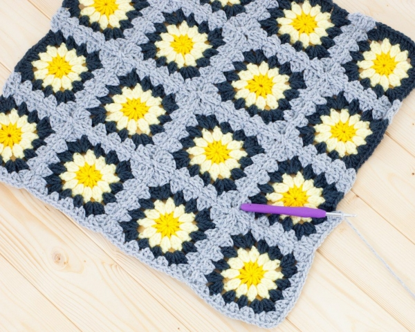 how to join as you go granny squares