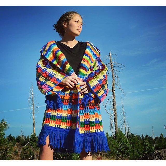 lordvonschmitt crochet blanket coat