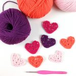 mini granny heart free crochet pattern