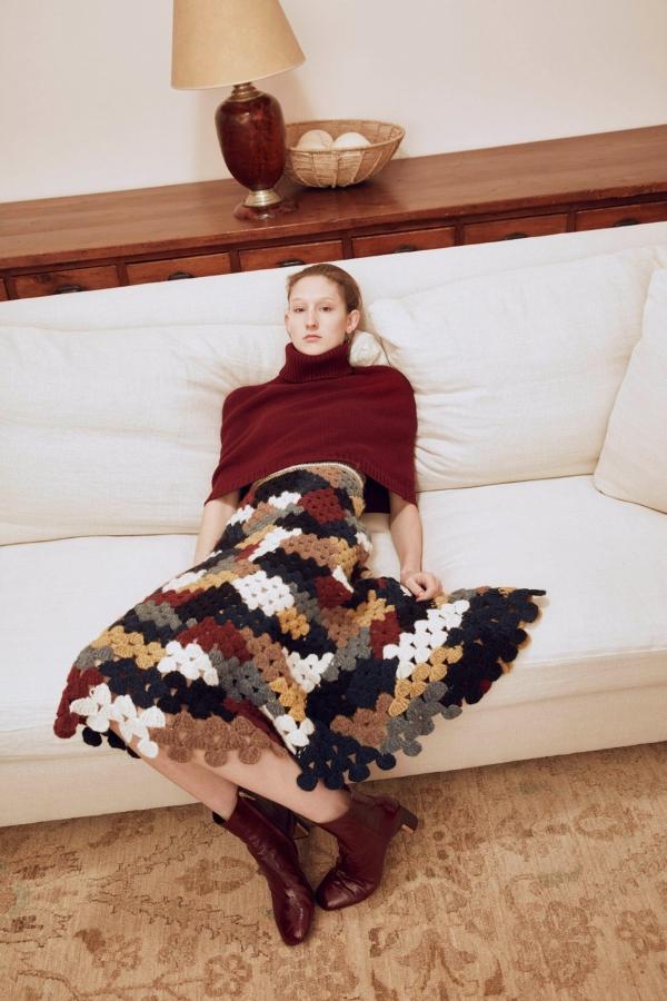 rosetta getty crochet skirt fall 2016